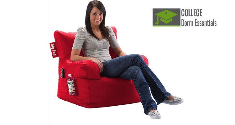 Miraculous Comfy Beanbag Dorm Chair With Pockets Alphanode Cool Chair Designs And Ideas Alphanodeonline