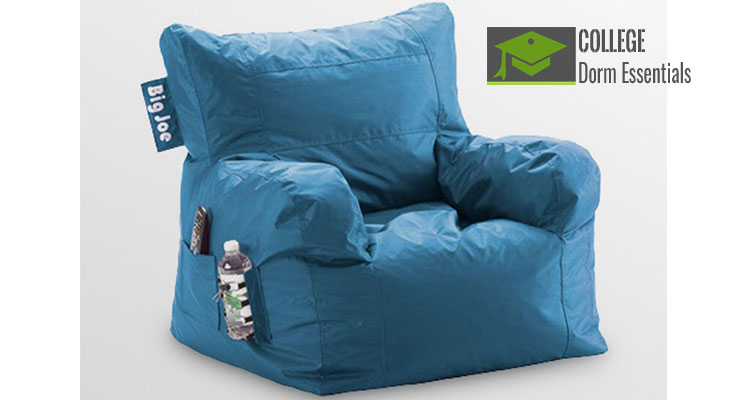 Comfy Dorm Beanbag Chair With Pockets