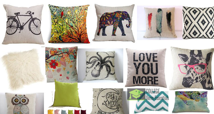 Dorm Decor throw pillows