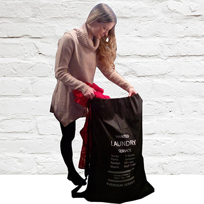 huge laundry bag with drawstring and shoulder strap ⋆ college
