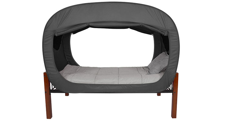 Privacy Pop Bed Tent Black
