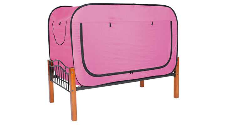 Privacy Pop Bed Tent - Pink  sc 1 st  College Dorm Essentials & Privacy Pop Up Bed Tent