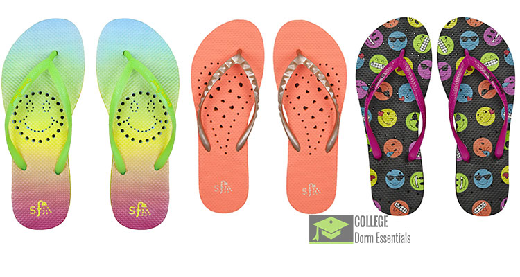 97e35a1a09b8 Anti-Slip Shower Water Sandals for Women Smiley Face