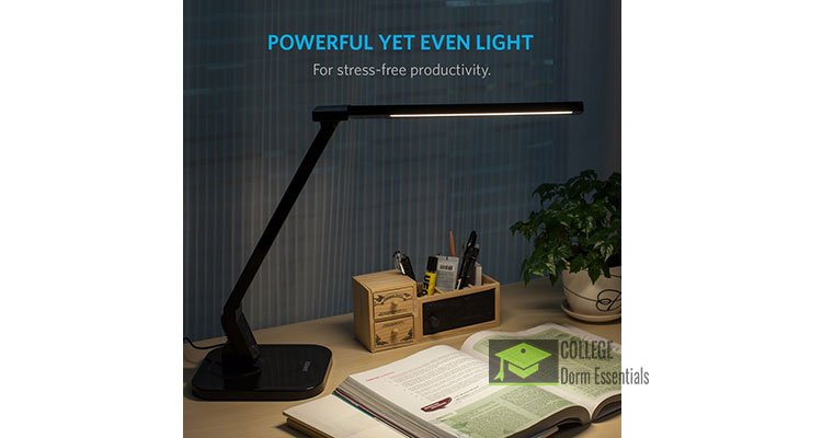 anker lumos led desk lamp with 4 modes and usb port