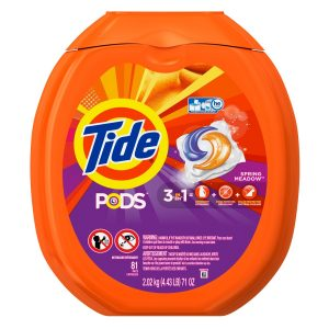 Tide Pods He Turbo Laundry Detergent Packs, Spring Meadow, 81 Count