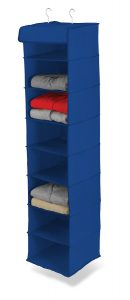 storage shelves blue