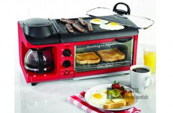 3 in 1 Toaster Oven, Coffee Maker, Griddle Breakfast Station