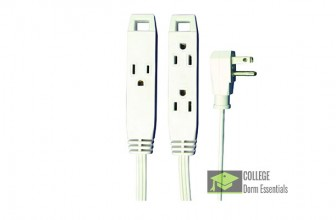 Simple 3 Outlet Extension Cord For Your Dorm