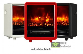 Stylish Faux Wood Fireplace Portable Electric Heater